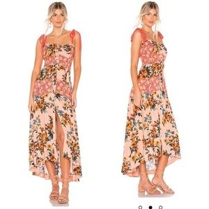 Free People Lover Boy Floral Coral Maxi Dress 10